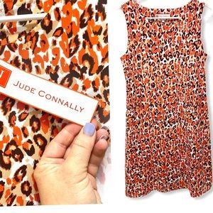 Jude Connally Leopard Striped Beth Assorted Dress